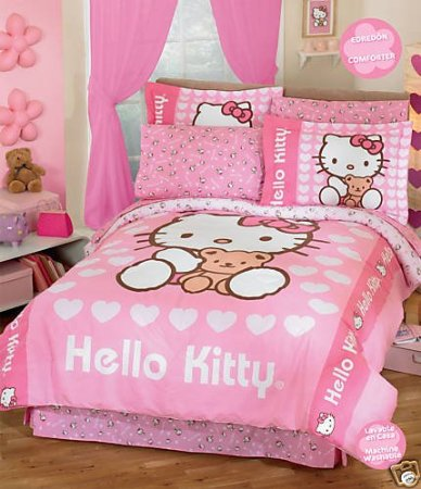 hello kitty bedding exclusive hello kitty bedding. Black Bedroom Furniture Sets. Home Design Ideas